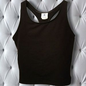 Tops - Women's (XS-S) Black,Stretchy, Cotton Athletic Top